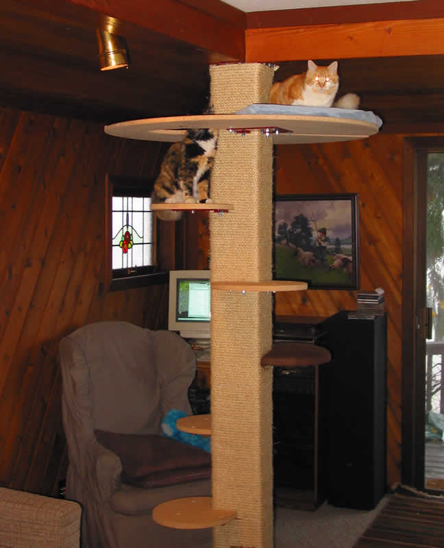 Diy how to make a cat tree plans free for Cat tree blueprints